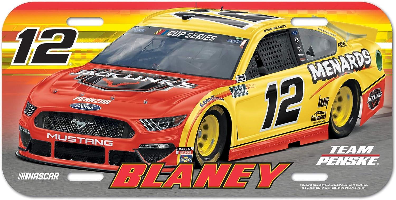 na Multi WinCraft NASCAR Penske Racing Ryan Blaney NASCAR Ryan Blaney #12 License Plate