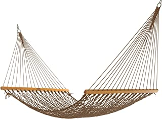 product image for Nags Head Hammocks NH11MOC Single Mocha Duracord Rope Hammock with Free Extension Chains & Tree Hooks, Handcrafted in The USA, Accommodates 1 Person, 450 LB Weight Capacity, 12 ft. x 49 in.