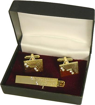 Set Apollo pasador alfiler corbata gemelos en caja para regalo ...