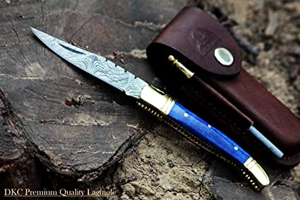 Amazon.com: dkc-62-bl Azul Prince Laguiole Damasco Cuchillo ...
