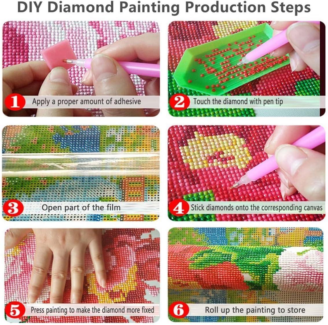 Orsit 5D Pittura Diamante Dipinto DIY Tool Kit Artigianato Decorazione della parete di casa Sedia per pittura a olio(12X16inch//30X40CM)