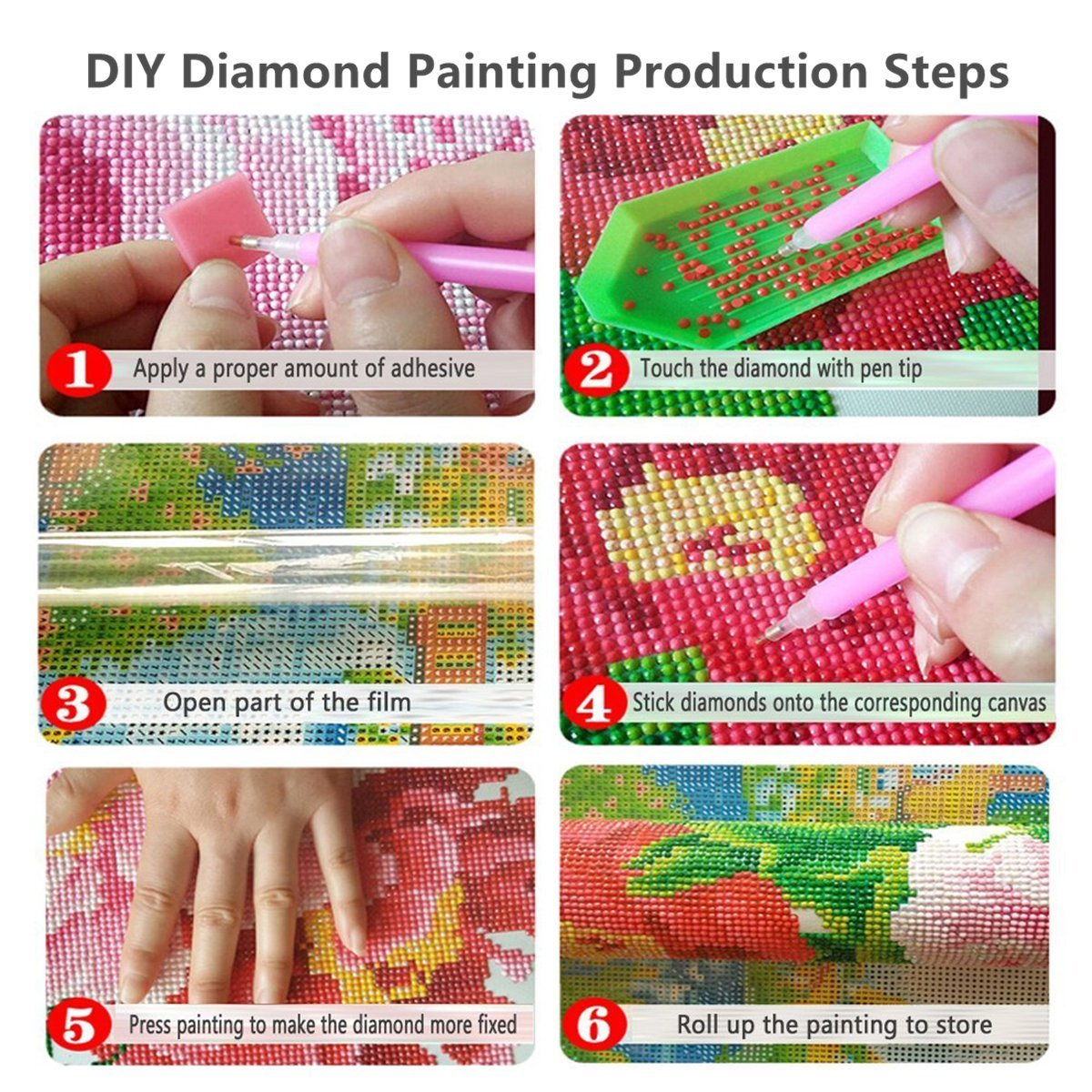 Orsit DIY 5D Diamond Painting Kit Full Diamond Embroidery Cross Stitch Arts Craft Supply for Home Wall Decor 14X14 inches,owl