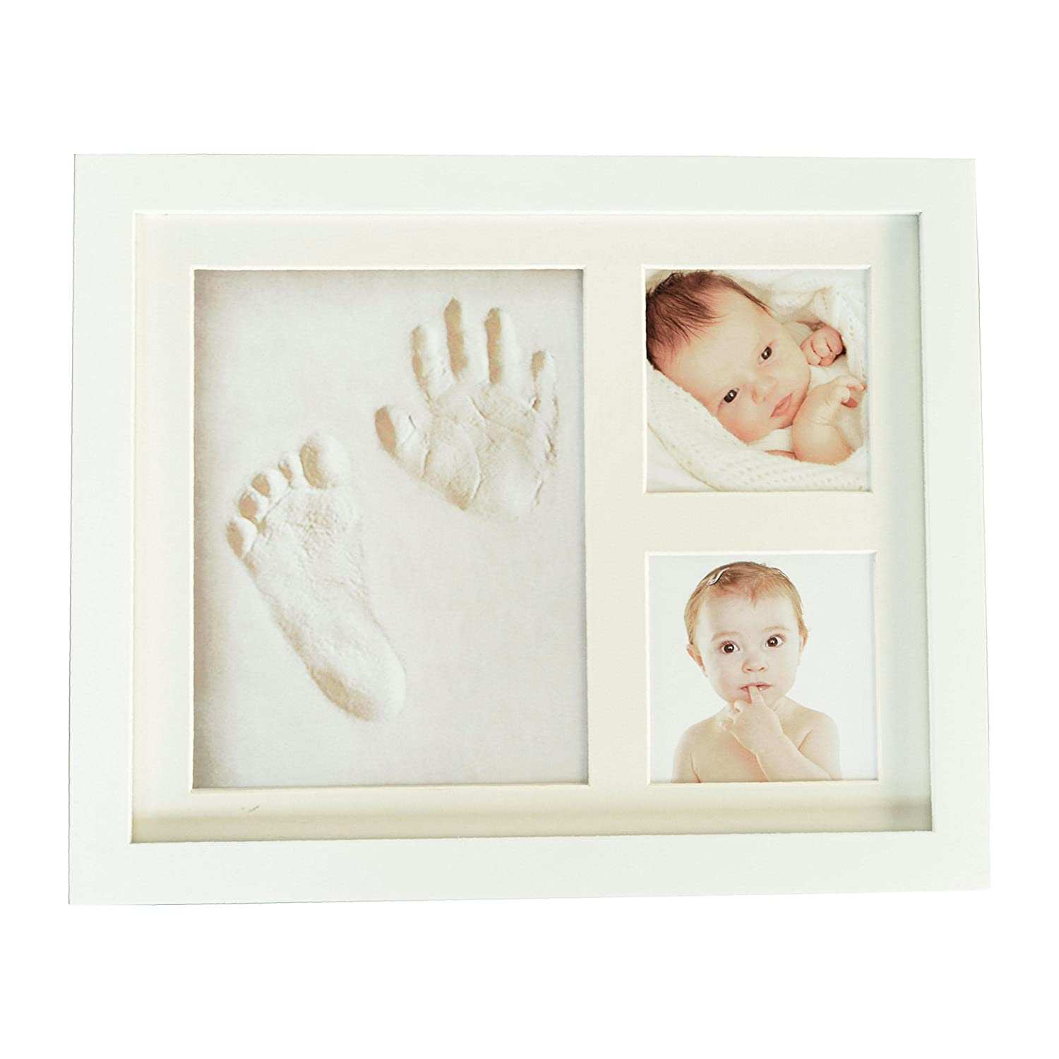 MemoriesNest Baby Handprint Kit Keepsake - Photo Frame Album for a Newborn's Hand and Footprint - A Personalised New Gift Box for a Baby boy/Girl Shower Registry - Nursery Wall Decoration