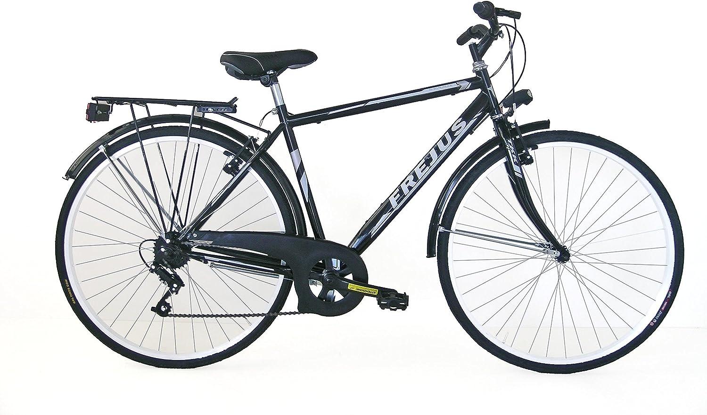 Frejus - Bicicleta de Ciudad Manchester para Hombre, Negro, M ...