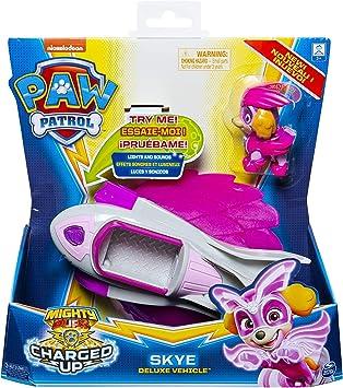 Oferta amazon: PAW PATROL Mighty Pups | Vehículos con Luz, Sonido y Figura de Juego | Patrulla Canina, Figura:Mighty Skye