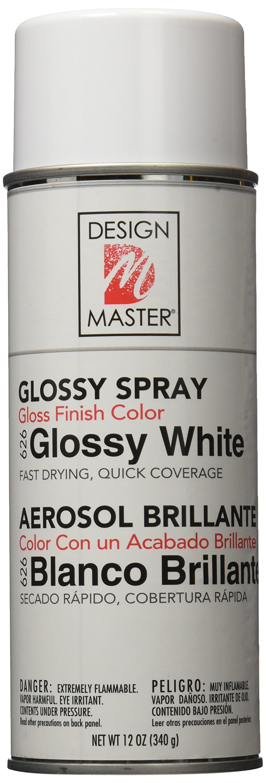 Design Master Colortool Floral Spray Paint 12 Ounces-Glossy White