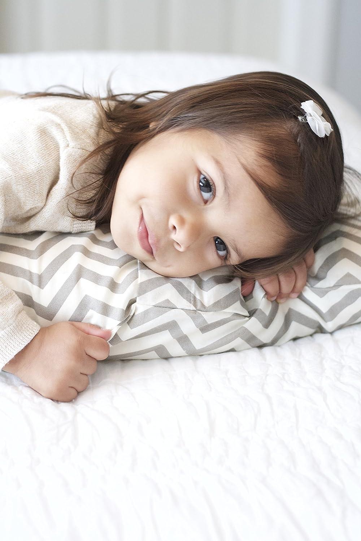 Chevron Gray Organic Collection Little Sleepy Head Toddler Pillowcase