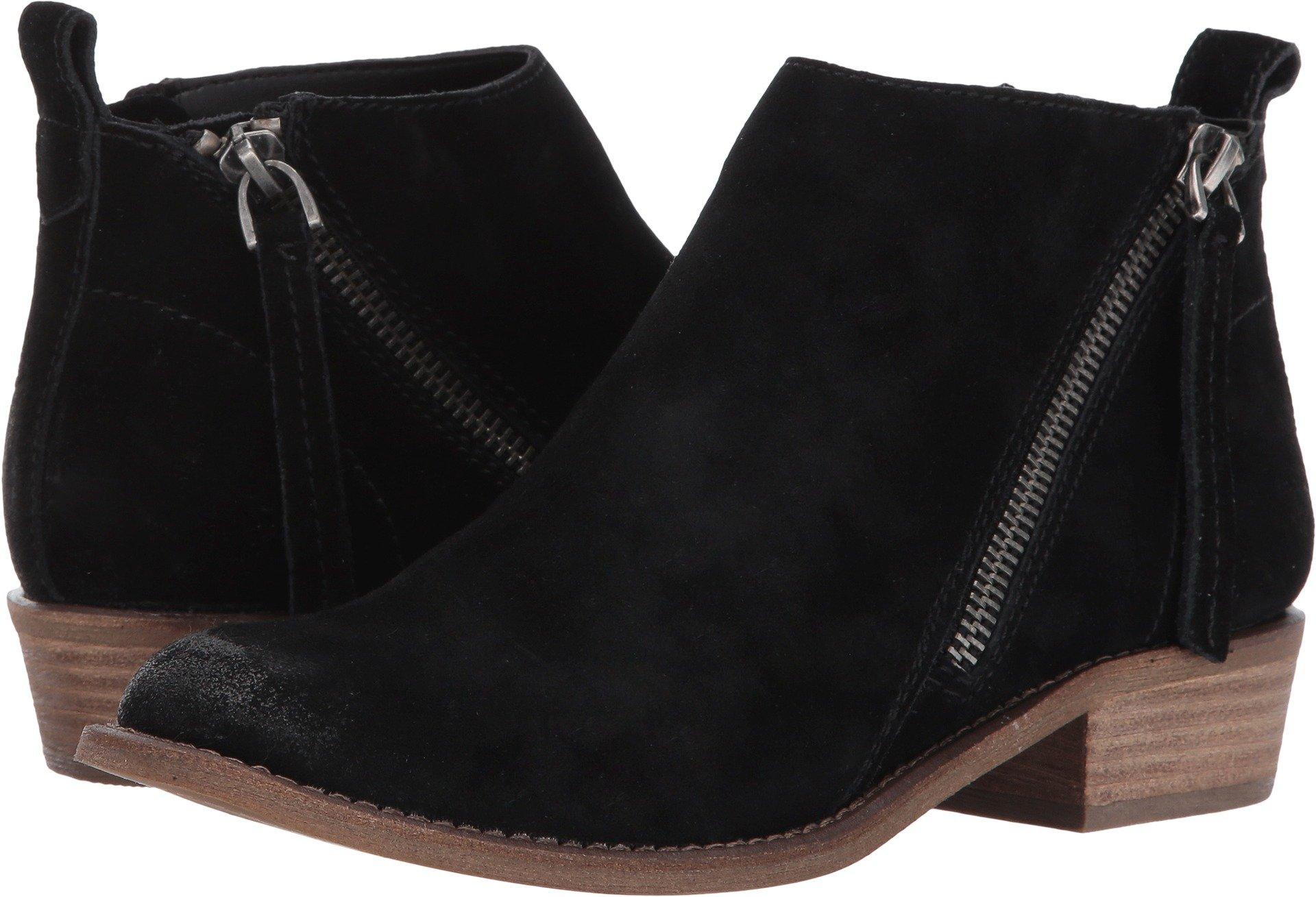 Dolce Vita Women's Sibil Ankle Bootie, Black Suede, 6.5 M US