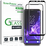 "Galaxy S9 Plus Screen Protector Glass, amFilm 3D Curved Dot Matrix Full Screen Samsung Galaxy S9 PLUS Tempered Glass Screen Protector (6.2"") 2018 with Easy Application Tray (NOT S9) (Case Friendly)"