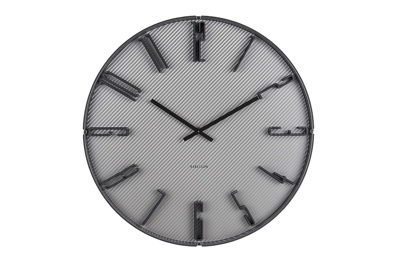 Karlsson Sentient Carbone Horloge Murale