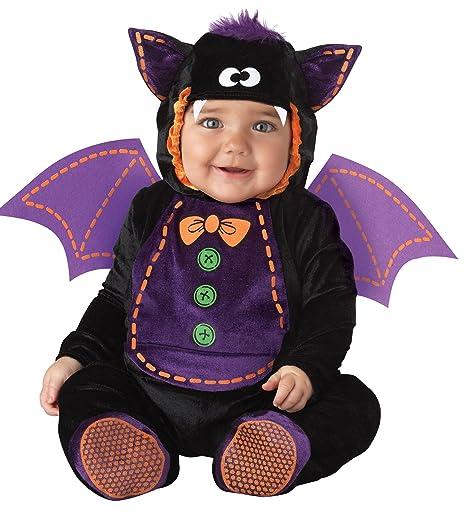 Costume Pipistrello per neonato travestimento carnevale halloween cosplay  Tuta nera cappuccio e ali viola copriscarpe antiscivolo 28eff54e0e72