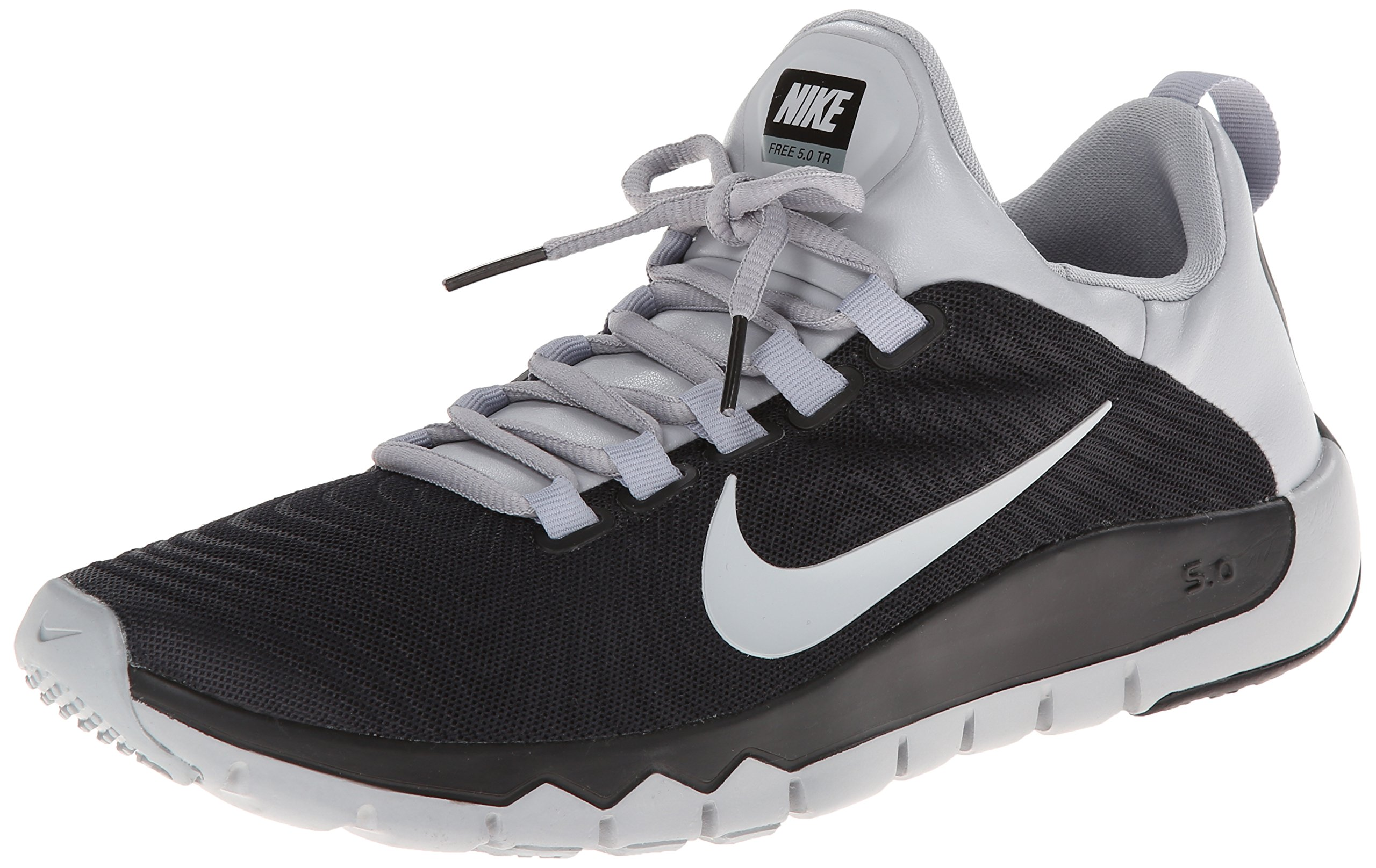 7e518cabad25d Galleon - Nike Mens Free Trainer 5.0 (V5) Training Shoes-Black   Wolf  Grey-9.5
