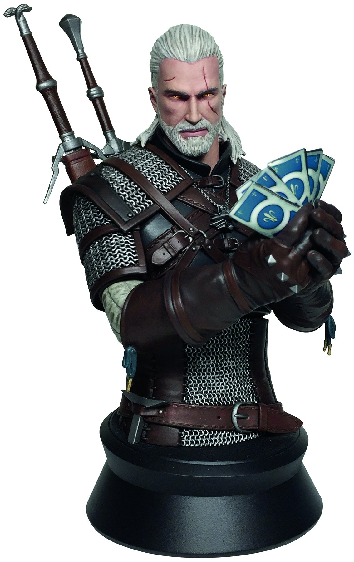 Dark Horse Deluxe Geralt Playing Gwent Bust Toy