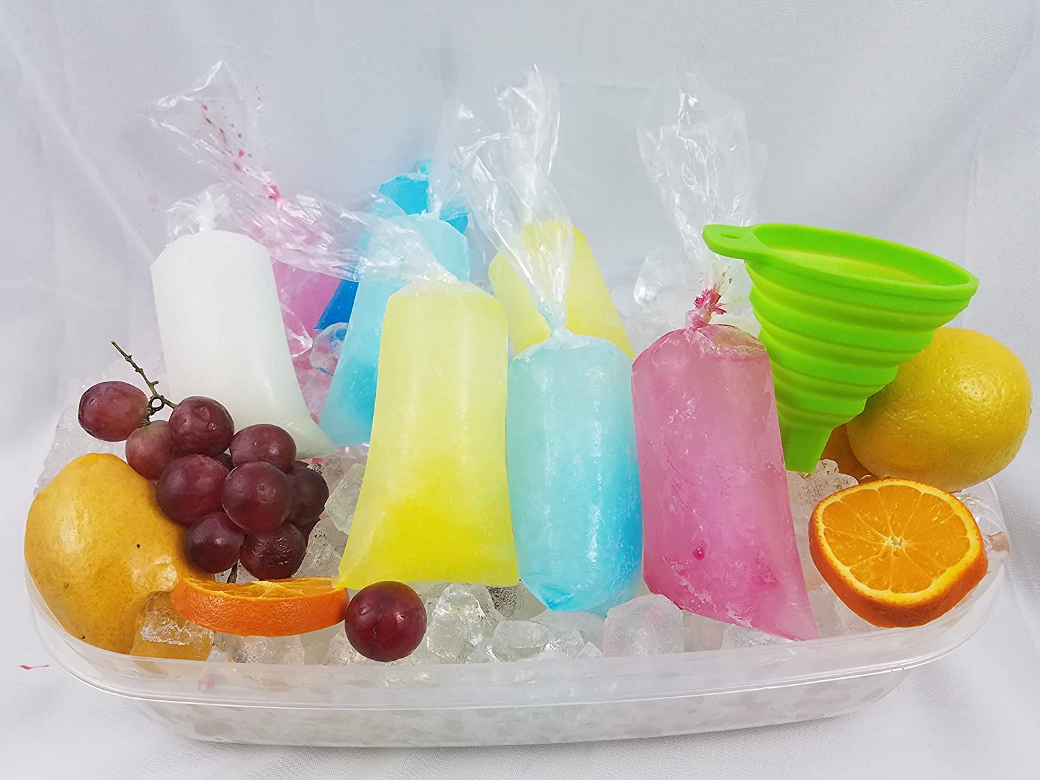 3x10 200 pcs Ice Pop Bags bpa Free /1 Free Funnel and Multipurpose Use/Vikingos/marcianos/bolsas para Bolis de Hielo/Freezen pop Sicle/ice Candy ...