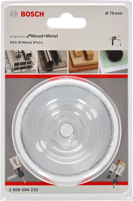 Bosch Professional 2608594232 Lochsäge Progressor Für Wood Metal Holz Und Metall Ø 79 Mm Zubehör Bohrmaschine Baumarkt