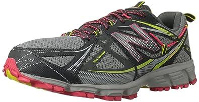New Balance Women\u0027s WT610 Trail Running Shoe,Dark Grey/Pink,5 ...