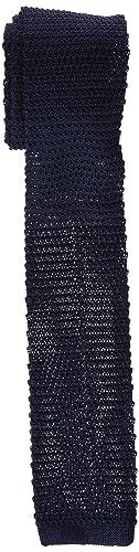 Scalpers Plain Tricot Seda Tie:Navy CORBATA, NAVY, UNICA para ...
