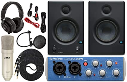 Amazon.com: Presonus AudioBox 96 Interfaz de audio con Eris ...