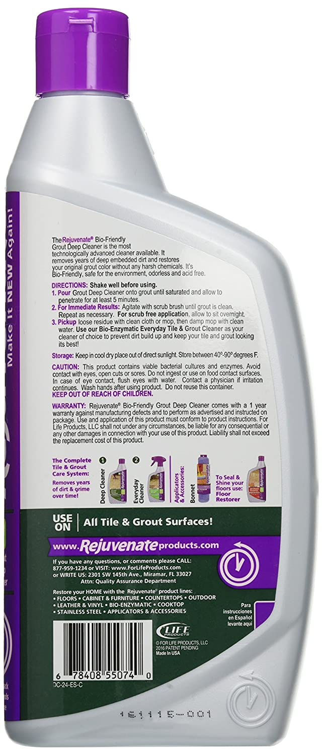 Amazon.com: Rejuvenate Grout Deep Cleaner – Safe Non-Toxic Cleaning on home carpet, home tile cleaner, home mold, home slate, home leather cleaner, home floor cleaner, home steam cleaners, home accessories, home glass cleaner,