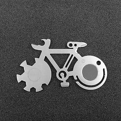 LouiseEvel215 Forma de Bicicleta Tarjeta de Herramienta de ...