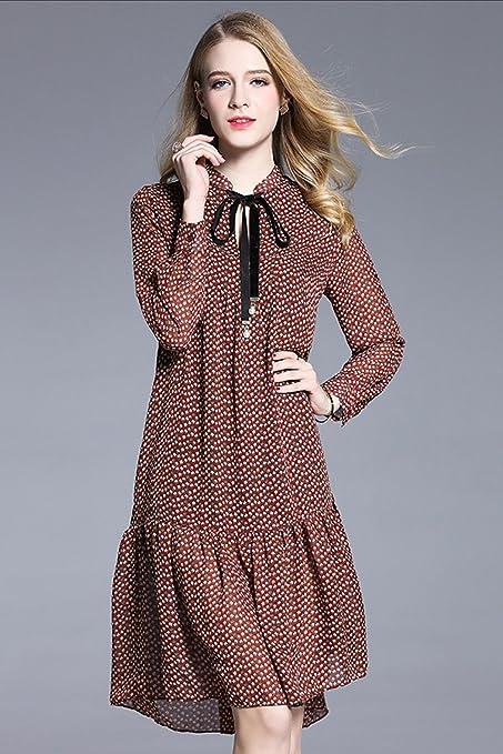 c8f27f867c29e Babyonlinedress Vestido estampado rojo de chiffón para fiesta estilo casual  vestido juvenil y corto talla 2xl  Amazon.es  Ropa y accesorios