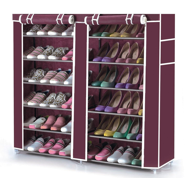 Vinsani - Armoire en tissu pour 36 paires de chaussures réparties sur 6 étages