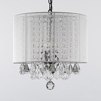 Kronleuchter Mit Schirm kristall kronleuchter mit weißem schirm lighting chandeliers h38 1cm
