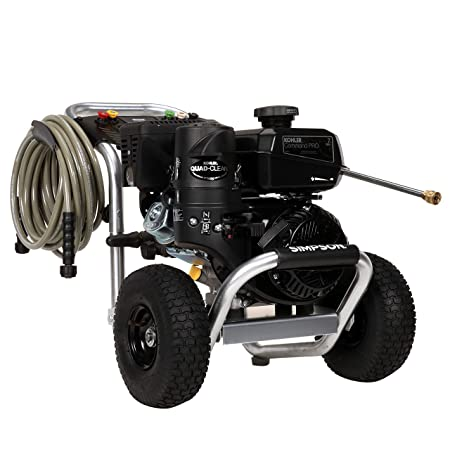 SIMPSON Cleaning ALK3228 Aluminum Gas Pressure Washer Powered by KOHLER CH270 3600 PSI at 2.5 GPM