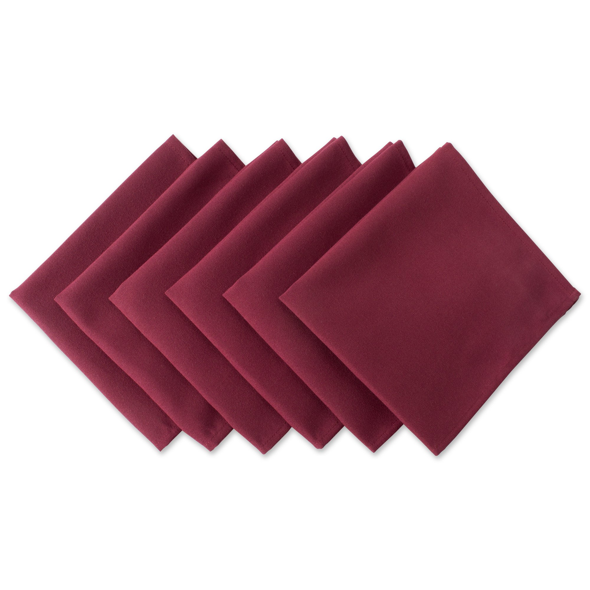 DII Wrinkle Resistant 20x20'' Polyester Napkin, Pack of 6, Wine Red  - Perfect for Brunch, Catering Events, Thanksgiving, Dinner Parties, Showers, Weddings and Everyday Use