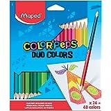 Lápis de Cor, Maped, Color Peps Duo Caixa, 829602, 24 Lápis/48 Cores