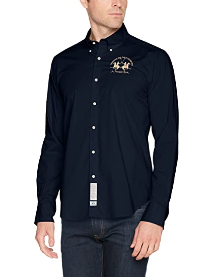 La Martina Man Shirt L/S Poplin Stretch, Camisa Casual para Hombre: Amazon.es: Ropa y accesorios