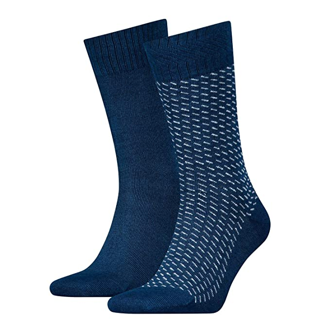 Levis 2-pack 120sf Digital Sorprendente Rayas Calcetines De Los Hombres, Azul Oscuro: Amazon.es: Ropa y accesorios