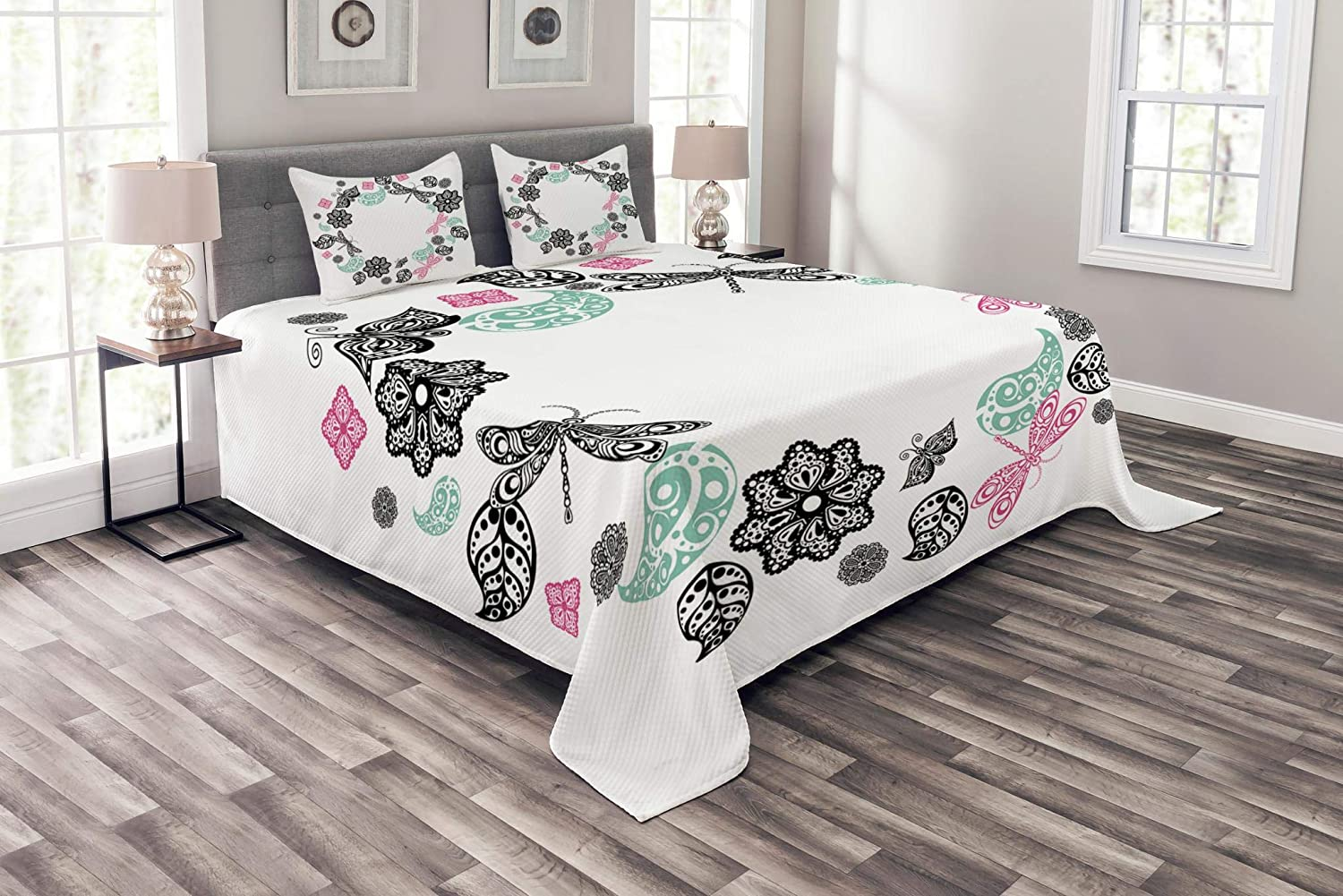 Blooming Flowers Leaves Berries and Butterflies Pastel Brown Multicolor Twin Size Soft Comfortable Top Sheet Decorative Bedding 1 Piece Lunarable Floral Flat Sheet