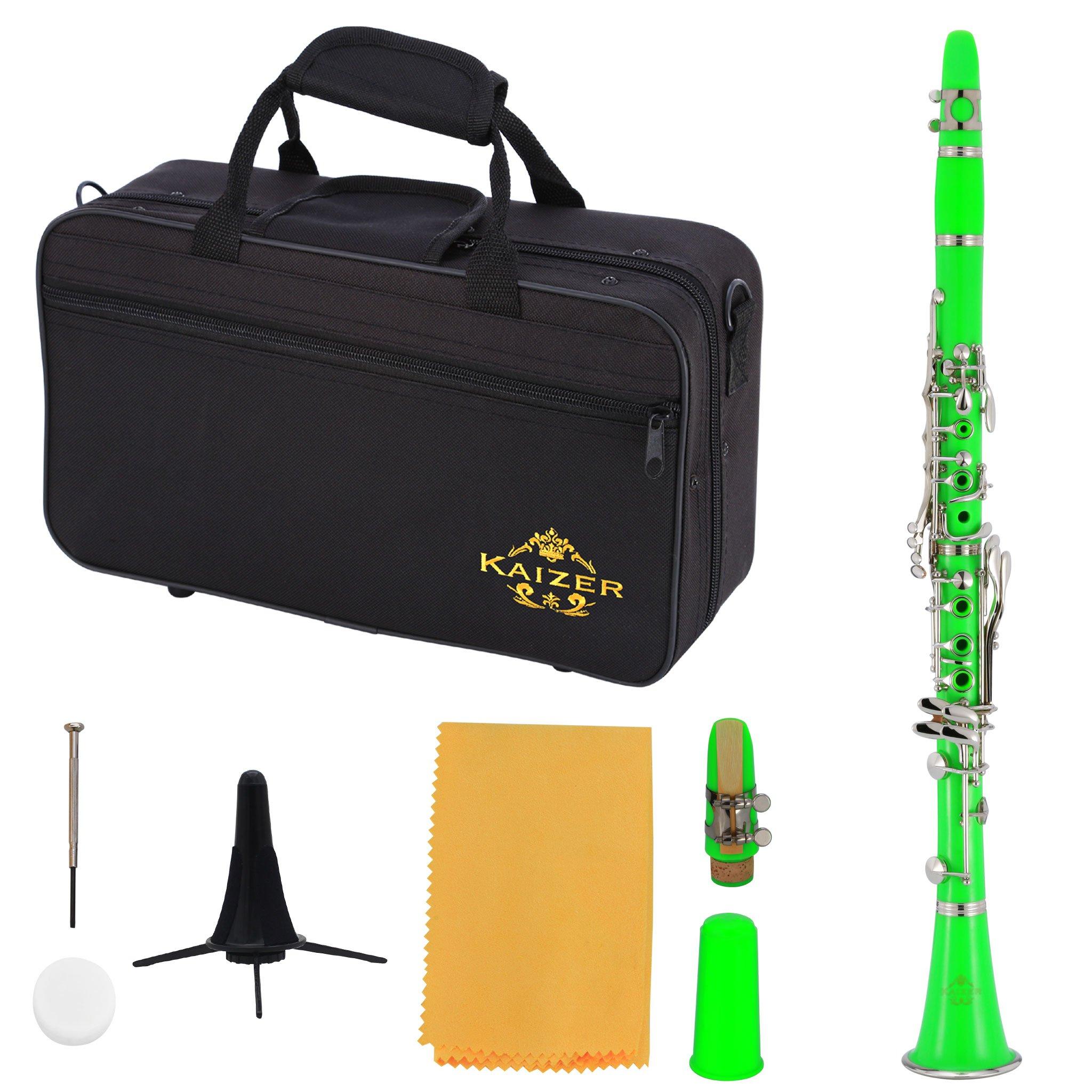 Kaizer Clarinet B Flat Bb Green CLE-1000GR by Kaizer