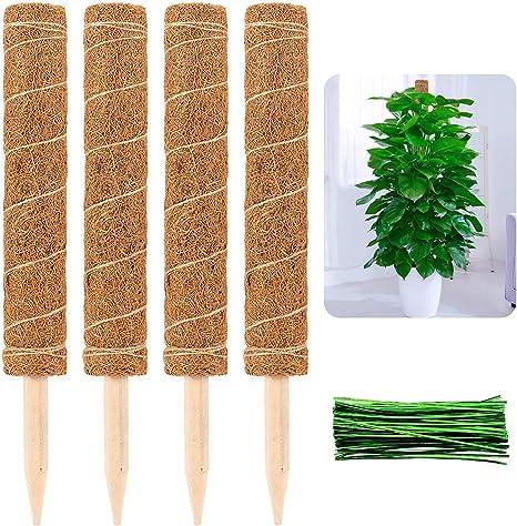 2S Alphatool 2 Pcs 12 Inches Coir Totem Pole Coir Moss Totem Pole Coir Moss
