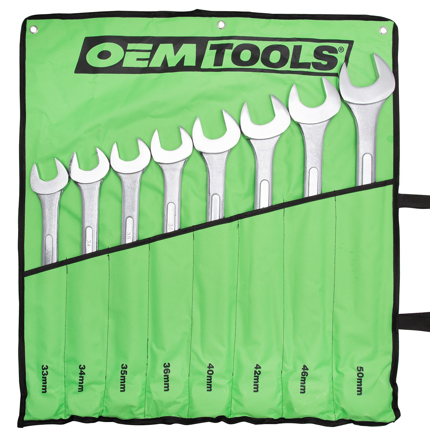 Jumbo Combination Wrench Set, 8-Piece (33 mm to 50 mm)