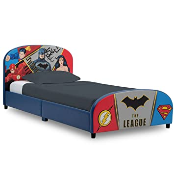 1feb0c45da Amazon.com  Delta Children Upholstered Twin Bed DC Comics Justice League   Baby