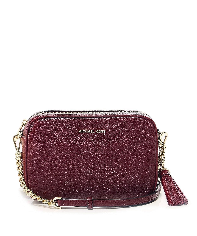 4a22b70a8608 MICHAEL Michael Kors Women's Leather Ginny Camera Crossbody Bag One Size  Red: Amazon.ca: Shoes & Handbags