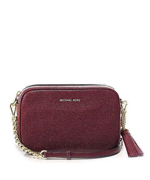 510be0dc7 MICHAEL Michael Kors Mujeres cuero Ginny cámara bandolera bolsa Rojo única  Talla: Amazon.es: Zapatos y complementos