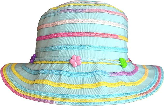 TeddyTs Boys Stars Crushable Wide Brim Summer Sun Beach Bucket Hat
