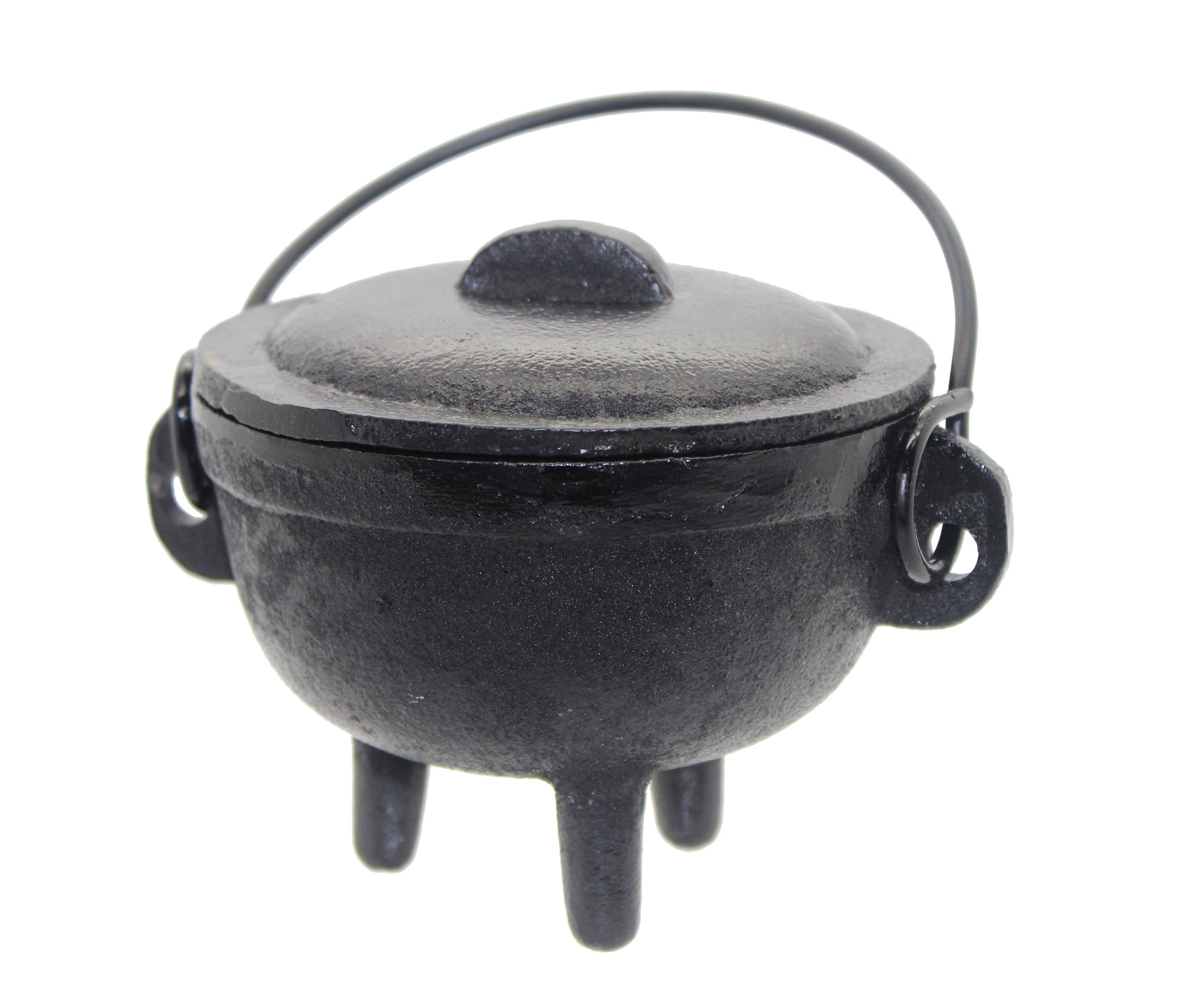 Govinda - Cast Iron Cauldron: 4 1/2'' Diameter Plain