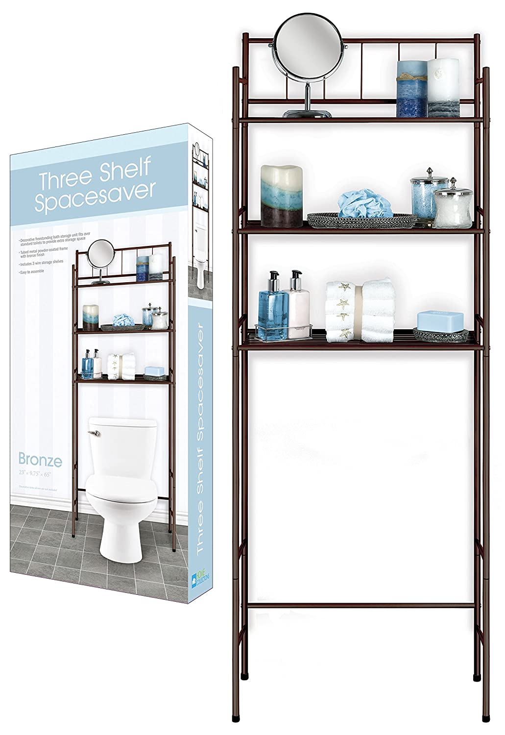 Bronze DINY Home Collections 3 Shelf Over The Toilet Spacesaver Easy to Assemble