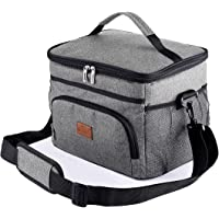 Insulated Cooler Lunch Bag, 24-Can (15L) Insulated Lunch Box with Adjustable Shoulder Strap, Keep warm and cold, Keep…