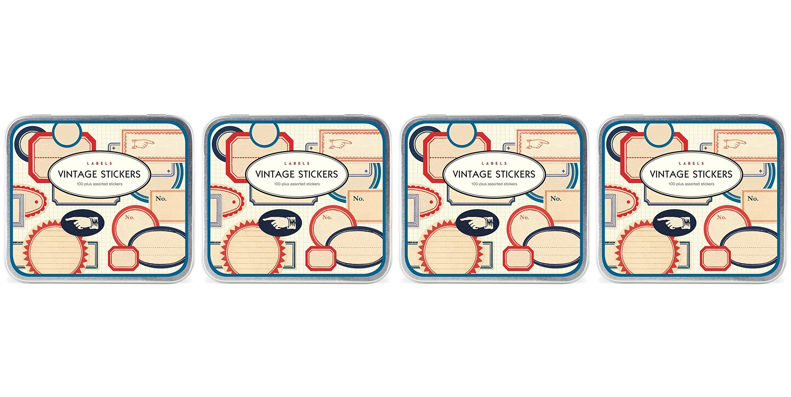 Cavallini Vintage 100 Plus Assorted Labels Stickers (Fоur Paсk)