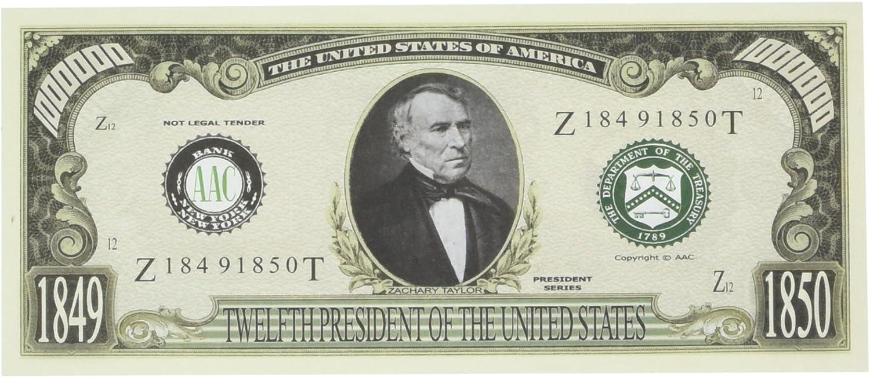 Lot of 100 Bills ZACHARY TAYLOR 12th PRESIDENT DOLLAR