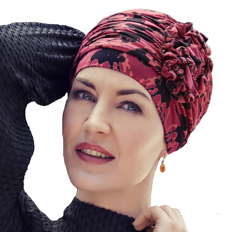 Christine headwear Turbante Lotus-PrintedHeadwear Copricapo chemioterapia