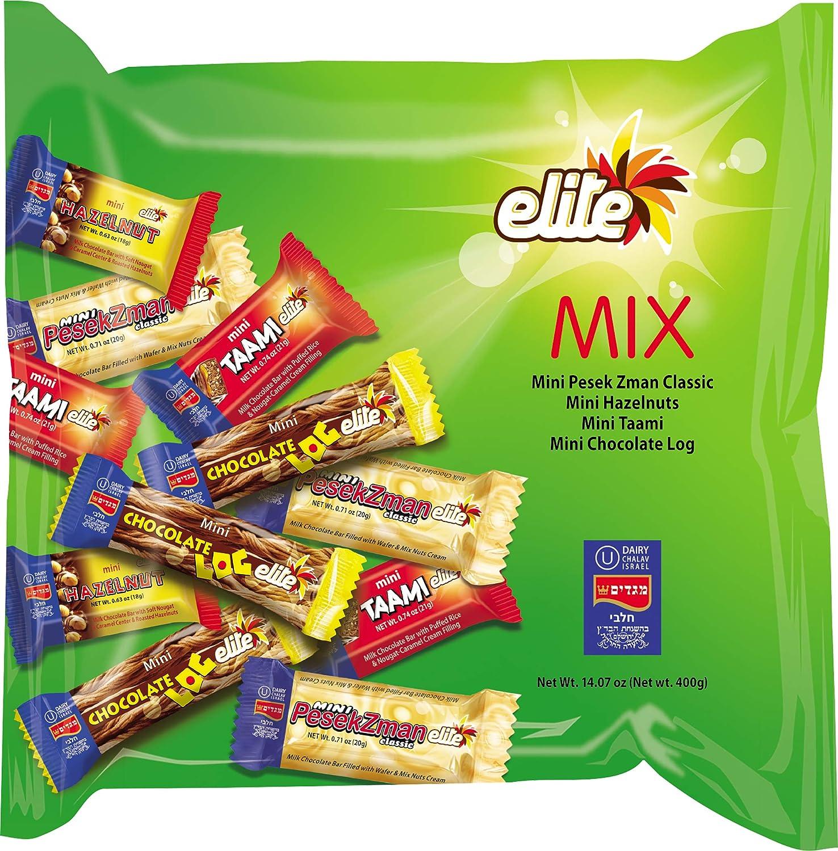 Elite, Mini Milk Chocolate Bar Variety Pack, 14oz