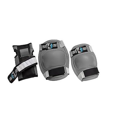 Kryptonics Starter Knee, Elbow, Wrist Pad Set, Grey : Sports & Outdoors