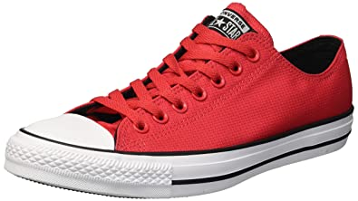 8673dc9f0831b6 Converse Men s Chuck Taylor All Star Lightweight Nylon Low Top Sneaker  Cherry red Black