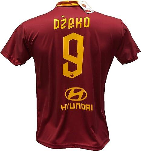 Camiseta de fútbol Dzeko 9 Roma réplica autorizada 2018-2019 para niño (Tallas 2 4 6 8 10 12) Adulto (S M L XL), 2 años: Amazon.es: Deportes y aire libre